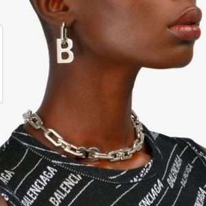 Balenciaga 100% Authentic Silver B chain necklace!